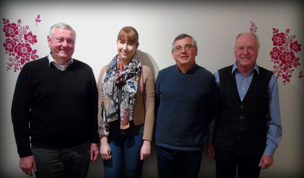 Geert Mehlhop, Belinda Schicks, Rudolf Schmitt und Horst Schomann (von links) bilden nach ihrer Wahl bei der Mitgliederversammlung den neuen Vorstand der Tanzsportabteilung.