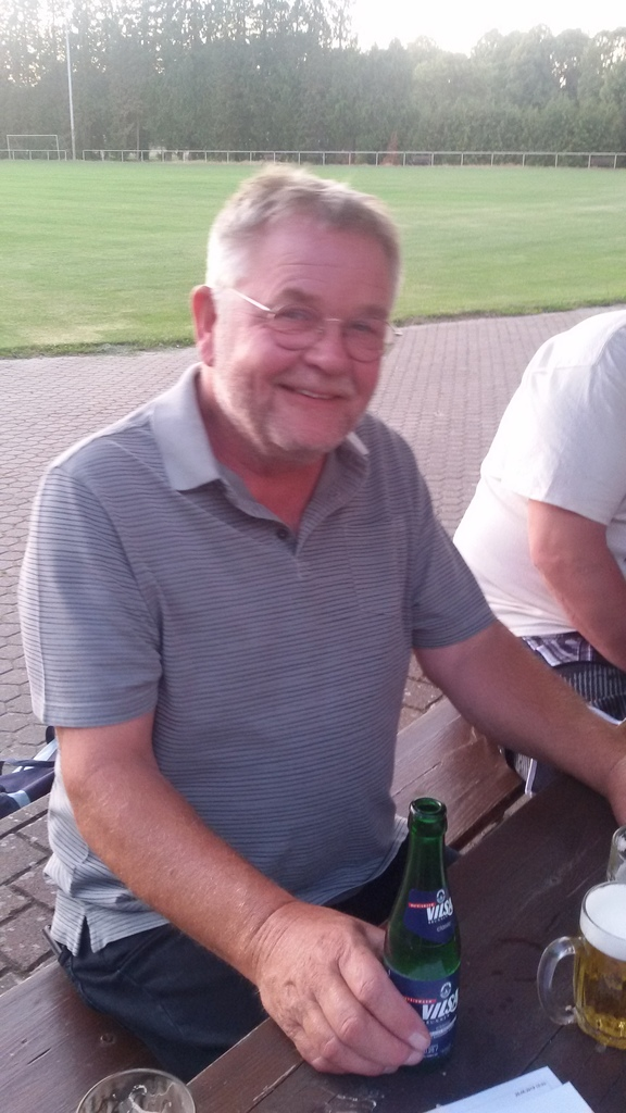 Sponsor Hermann Hustedt (Schade, Wette verloren!)