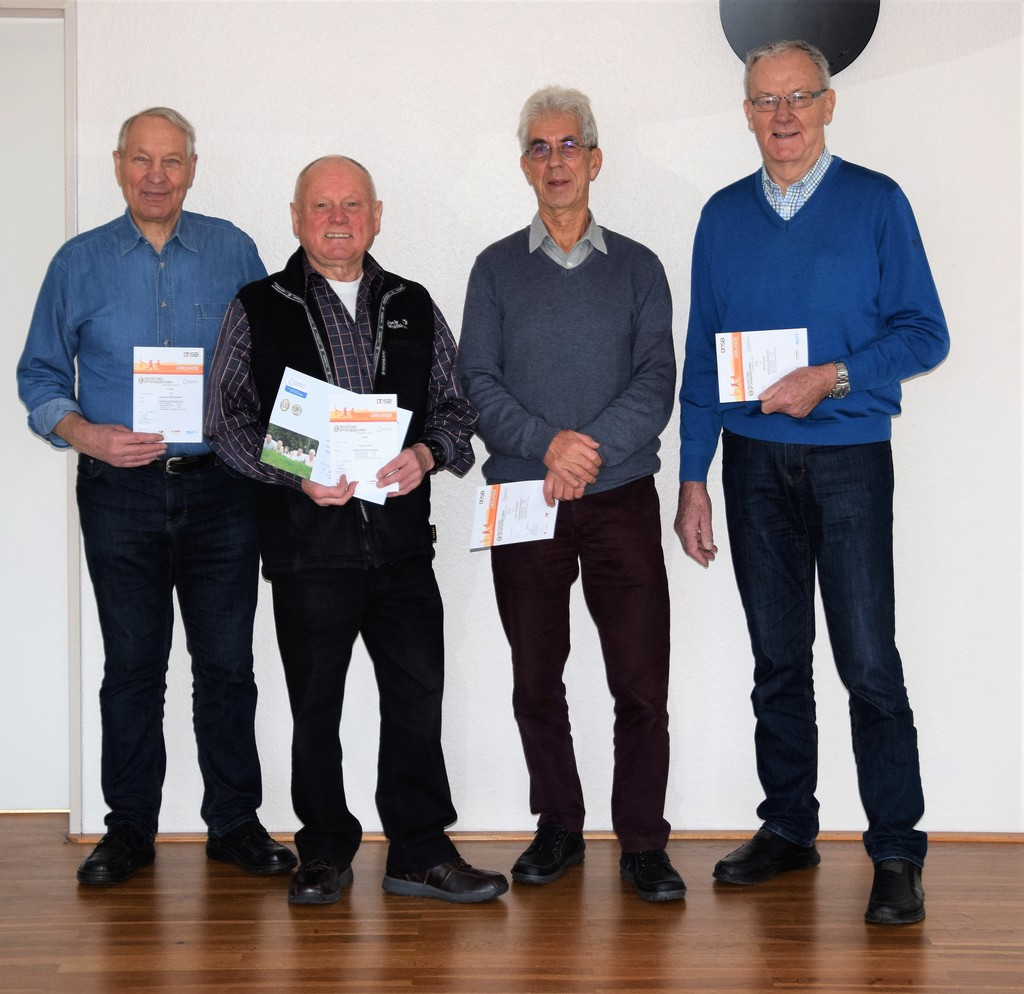 Das Sportabzeichenteam.. Norbert, Harry, Heyko, Horst