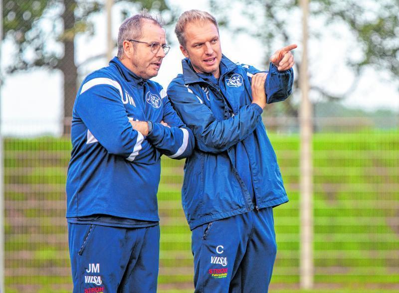 Das Erfolgsduo wird gesprengt: Patrick Tolle (r.) wird noch bis Saisonende gemeinsam mit Jörn Meyer die Richtung beim SVBV vorgeben.