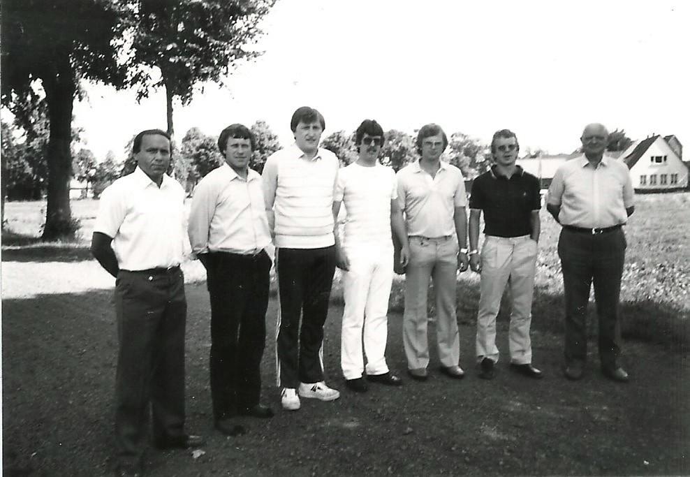 1982: Der Vorstand des SVBV