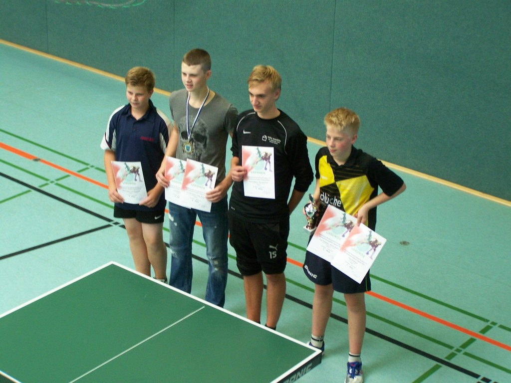 Jungen-Doppelkreismeister Julian Wuckert (links)
