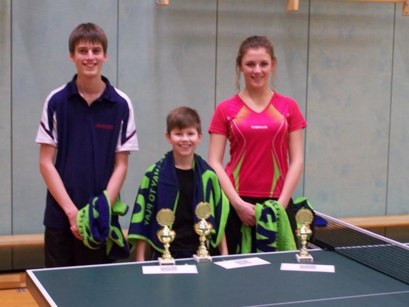 Einzel-Vereinsmeister: Jugend offen: Johannes Delventhal 2.Platz Julian Janke 1.Platz Marlena Meyer 3.Platz
